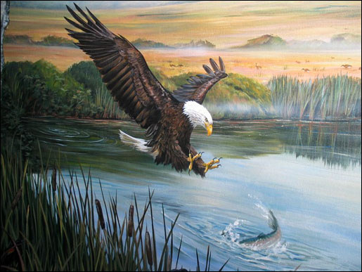 Dioramas and murals native american indian dioramas and for Eagle wall mural