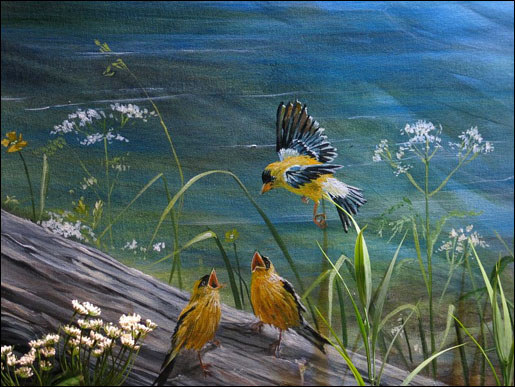 Finches Mural